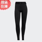 【現貨】Adidas TECHFIT 3-STRIPES 女裝 長褲 緊身 全長 訓練 中腰 排汗 黑【運動世界】GL0685