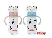 『121婦嬰用品館』Nuby不鏽鋼真空學習杯-大麥町狗狗(細吸管)藍色/粉色 420ml