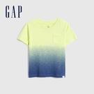 Gap男幼童 輕薄透氣V領短袖T恤 681415-黃色