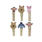 【收藏天地】迪士尼系列*木夾裝飾組小熊維尼/文具卡通可愛
