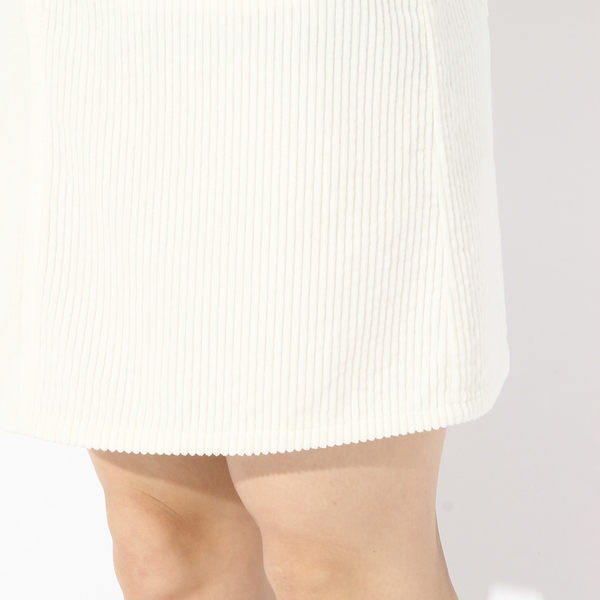 LOWRYS FARM素色燈心絨膝上短裙-三色
