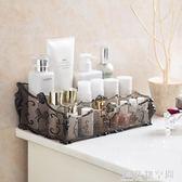 居家家梳妝台透明化妝品收納盒桌面塑料多格整理盒護膚品置物架 名購居家