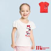 JJLKIDS 女童 甜心蝴蝶結短袖上衣(2色)