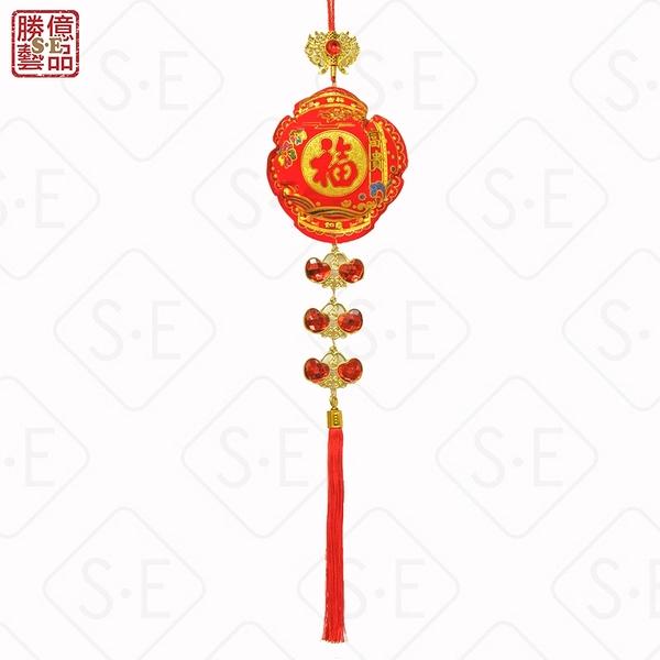 單個燈籠福絨面彩金紅寶石吊掛飾 勝億紙藝品行春聯年節喜慶飾品批發零售