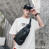韓版胸包男女士小包 戶外運動側背包小背包後背包潮男包 美斯特精品