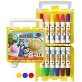 【金玉堂文具】BLM-12A(12/B)奶油獅彩色筆12色-透明盒 SIMBALION 雄獅