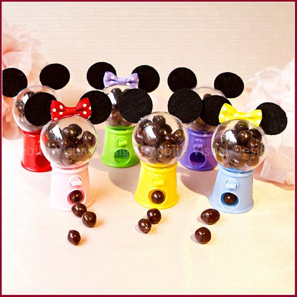 米奇米妮扭蛋機糖果(米果巧克力)(米奇或米妮可挑)-兒童節 生日派對 婚禮小物幸福朵朵