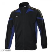 MIZUNO 男裝 外套 套裝 吸汗快乾 抗紫外線 拉鍊口袋 黑藍【運動世界】32TC053592