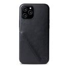 Alto iPhone 12 / 12 Pro 通用款 真皮手機殼背蓋 6.1吋 Metro 360 - 渡鴉黑【可加購客製雷雕】