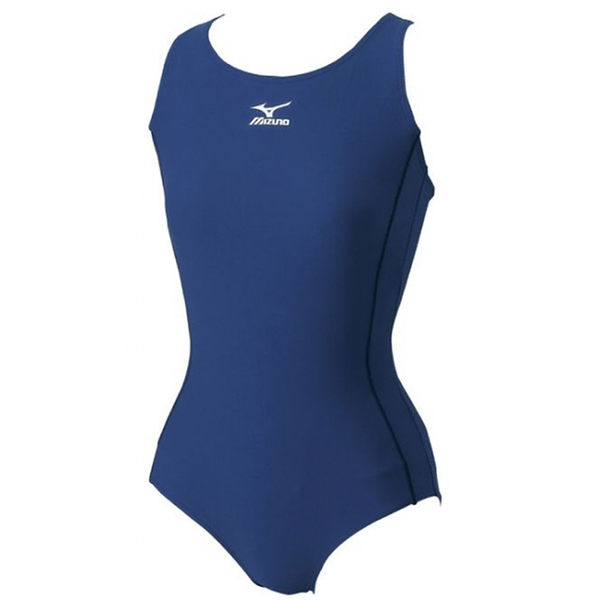 MIZUNO 美津濃 BASIC 女 連身泳衣 泳裝 85EE-30014 丈青[陽光樂活]