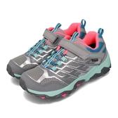 Merrell 戶外鞋 Moab FST Low A/C Waterproof 灰 銀 女鞋 大童鞋 越野 休閒鞋 運動鞋【PUMP306】 MK162588