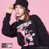 STAYREAL x Pink Panther 舞力全開粉紅豹厚棉T