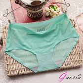 【魔法之夜】 【Gaoria】春光挑逗 一片式 緹花款 冰絲無痕內褲 淺綠