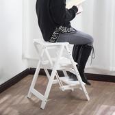 折疊梯子梯子家用折疊梯凳人字梯實木二三四步梯椅凳花架室內登高爬小梯子【 免運】