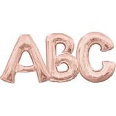 16吋玫瑰金字母鋁箔氣球(不含氣)-A到Z