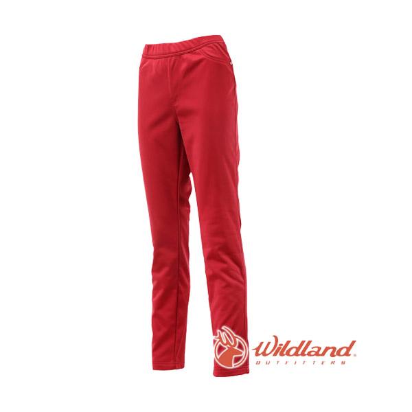 [Wildland] 荒野 (女) 彈性針織合身長褲 暗紅 (0A12363-12)