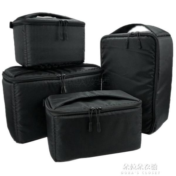 相機包 數碼單反相機收納包防震抗摔加厚內膽包單後背背包收納袋內膽套 朵拉朵YC