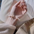 淡水珍珠手錬女精致手鐲新品學生閨蜜手飾ins小眾設計手串