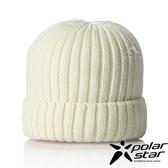 【PolarStar】中性 素色保暖帽『白』P18602 素色帽 針織帽 毛帽 毛線帽 帽子
