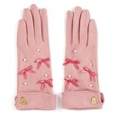 小禮堂 美樂蒂 成人造型棉質手套 觸控手套 保暖手套 (粉 2020冬日特輯) 4550337-91012