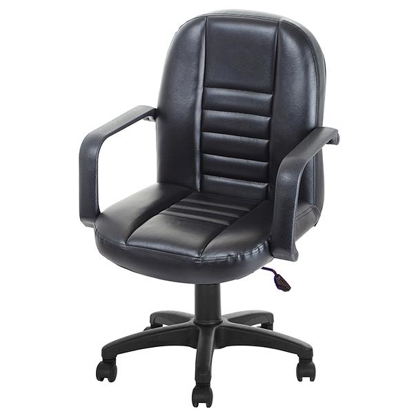 GXG 短背皮面 電腦椅 (可後躺/塑膠腳) 型號1023 EK