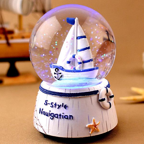 水晶球音樂盒八音盒創意生日禮物女生閨蜜送兒童小朋友七夕禮品【時尚家居館】
