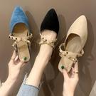 快速出貨 尖頭 拖鞋女低跟 包頭方跟網紅粗跟百搭單鞋超火超值價