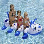 多人充氣毛毛蟲坐騎游泳圈充氣水上動物浮床浮排