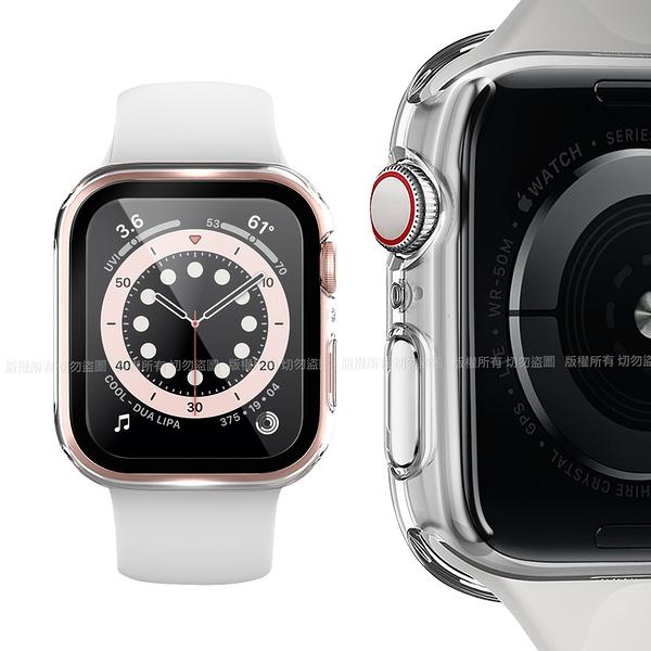 CITY BOSS for Apple watch一體成形式玻璃加保護殻 40mm- 透明
