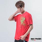 墨達人系列︱BIG TRAIN 波菊武虎V領T-男-紅色