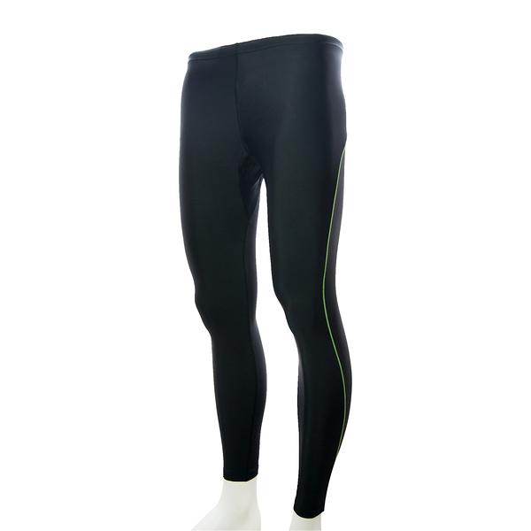 MOVIN  運動彈力長褲  黑綠  MA31108BG  機能緊身運動長褲----女