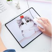 韓版游戲滑鼠墊可愛卡通桌墊小號滑鼠墊護腕個性時尚創意墊子Mc2953『優童屋』
