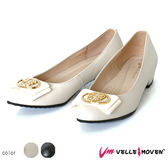 中低跟 上班舒適女鞋 VelleMoven 特色鞋飾 舒適足弓墊 氣質米