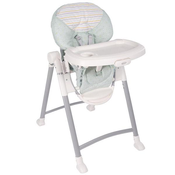 【愛吾兒】Graco 可調式高低餐椅 Contempo 條紋綠