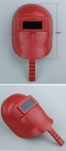 手持式塑料電焊氬弧焊燒焊防護面罩寬體不怕水不怕摔大連體焊帽
