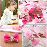 小貓綴花蝴蝶結髮飾 兒童髮飾 造型髮夾