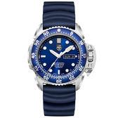 LUMINOX 雷明時Scott Cassell Deep Dive 500米專業潛水機械錶-藍x白時標/44mm A1523