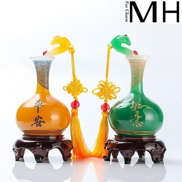 如意平安花瓶客廳擺件裝飾品博古架家居玄關電視柜擺設工藝品禮品