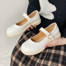 娃娃鞋 白色瑪麗珍小皮鞋女英倫風2021單鞋新款夏季復古配裙子日系jk鞋子 百分百