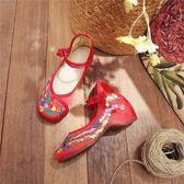 兒童鞋子老北京夏季布鞋女童繡花鞋兒童鞋子內增高寶寶演出跳舞鞋【百姓公館】