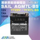 久大電池 風帆SAIL AGM7L-BS 機車電池 AGM-GEL 適用YTZ8V、YTX7L-BS 機車電瓶