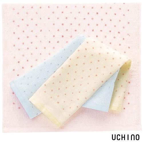 UCHINO日本製 毛巾 OBORO點點方巾 100%純棉 朦朧紗 嬰幼兒 過敏肌  泡湯 超吸水 日本內野
