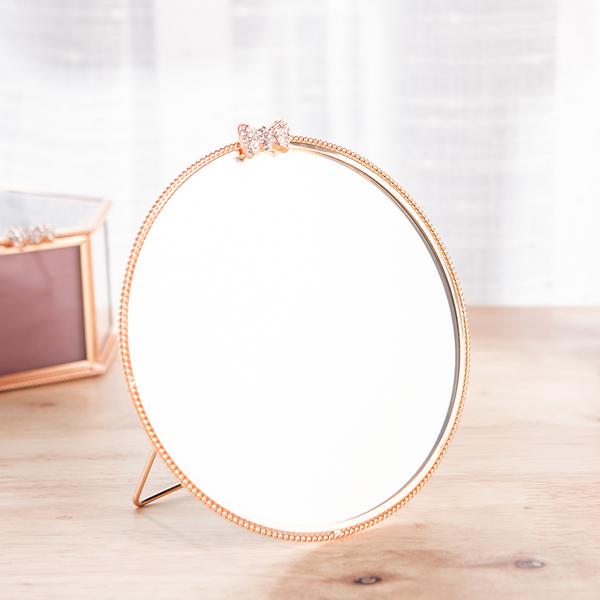 Brilliant圓形銅雕邊框桌鏡-生活工場