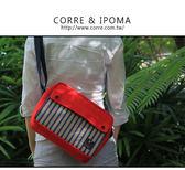 CORRE【CG71078】帆布印刷條紋斜背包