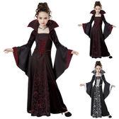 【萬聖節】萬聖節演出表演服 兒童萬圣節服裝 古裝表演服兒童女巫服