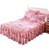(萬聖節)防滑床裙單件全棉雙層花邊床罩棉質席夢思保護套韓式公主床單床笠