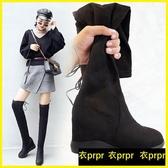 衣普菈 過膝靴 膝上靴過膝長靴平底長筒靴單靴內增高顯瘦高筒彈力靴 衣普菈