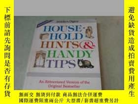 二手書博民逛書店HOUSEHOLD罕見HINTS & HANDY TIPS 家庭