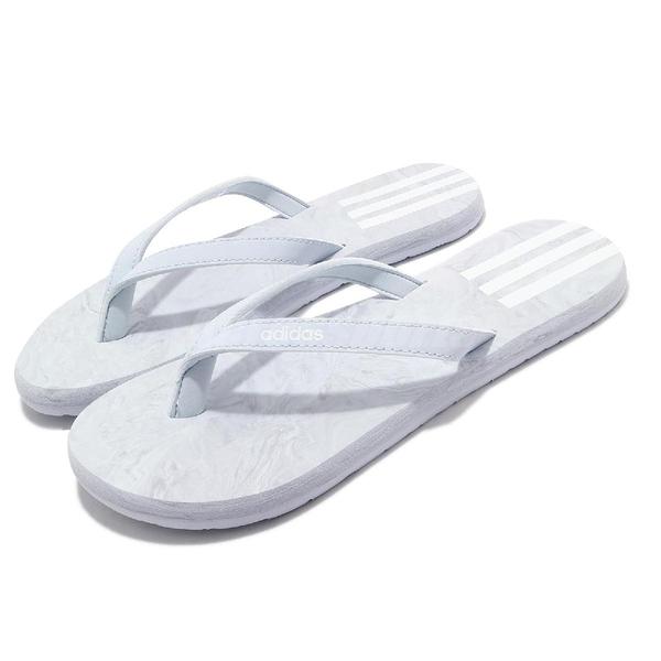 adidas 涼拖鞋 Eezay Flip Flop 藍 灰 女鞋 人字拖 夾腳拖 涼鞋 【ACS】 FY8115