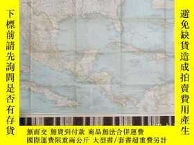 二手書博民逛書店National罕見Geographic國家地理雜誌地圖系列之1939年12月 Mexico, Central A